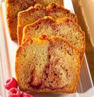 White chocolate and Raspberries Marble poundcake