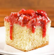 Strawberry Rhubarb Pudding